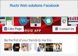 Follow in facebook in ruchiwebsolutions